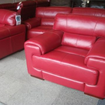 Red Leather Sofas & Suites