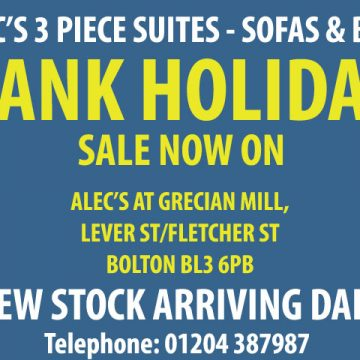 August Bank Holiday Sofa Sale – Now On