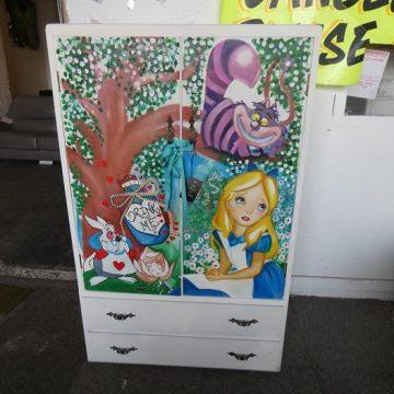Children's Alice in Wonderland Bedroom Wardrobe