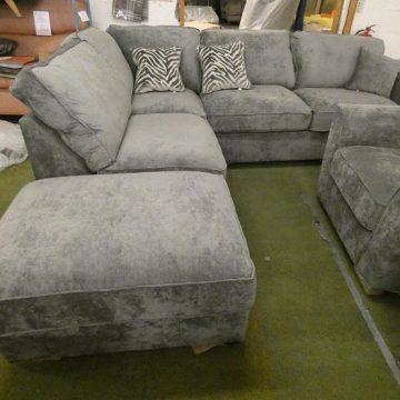 Super Comfy Grey Fabric Corner Sofas