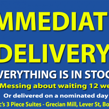 Immediate Delivery – Everything is in Stock
