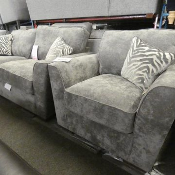 Grey fabric sofas are the biggest trend right now