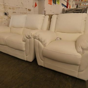 Modern & Stylish White Leather Sofas for Sale